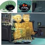 """Moniri, Radomski & Afif K. """"La peur des monstres""""."""